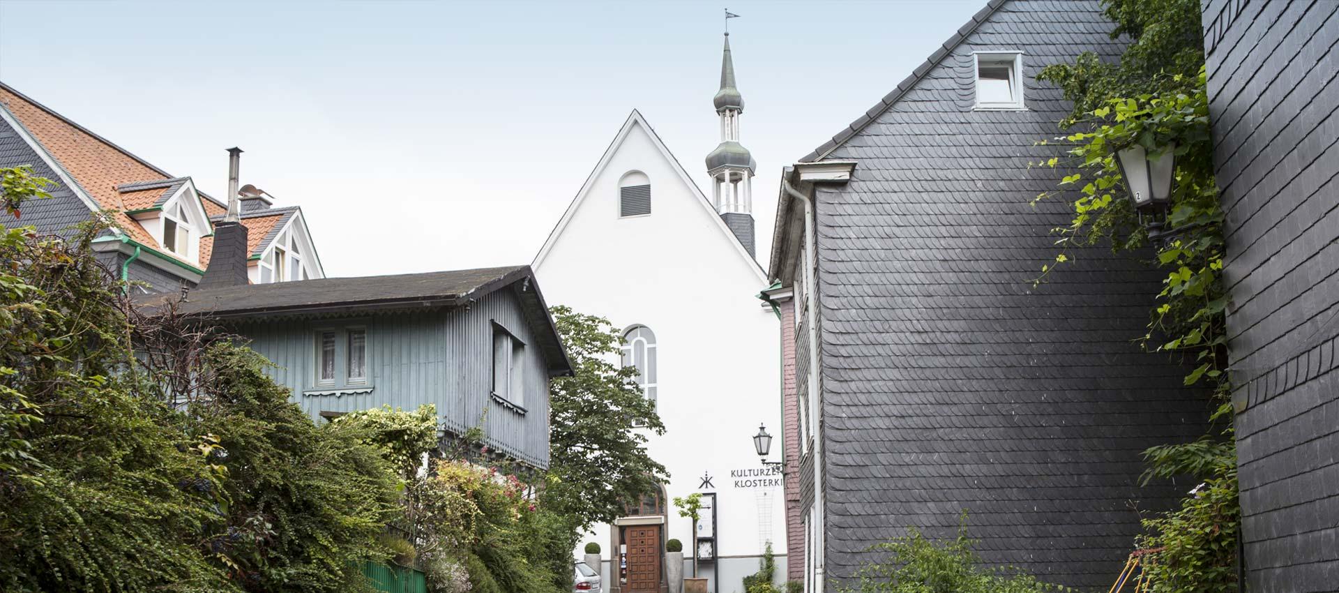 Das Kulturzentrum Klosterkirche direkt neben der Klosterschänke Remscheid.